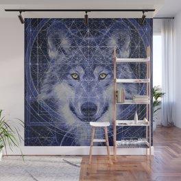 Wolf Geometry Wall Mural