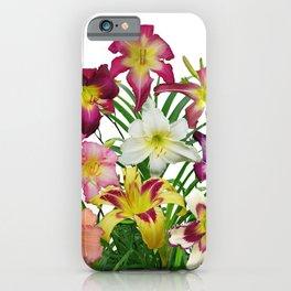 Celebration of daylilies II, Hemerocallis flowers iPhone Case