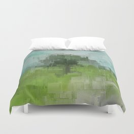 Spring Breeze Abstract Expressions Duvet Cover