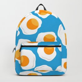 eggs pattern in blue Backpack