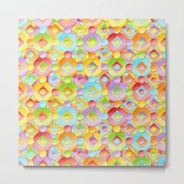 Rainbow Confection Metal Print