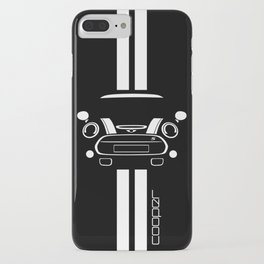 Mini Cooper T Shirt (Black/White stripes) iPhone Case