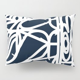 Stained Glass Pattern Black and White Pillow Sham