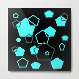 pentagon pattern Metal Print