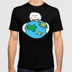 Love the Earth Black Mens Fitted Tee SMALL
