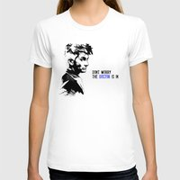 david tennant T-shirts featuring David Tennant Dr. Who - The Doctor is In by Wolfei