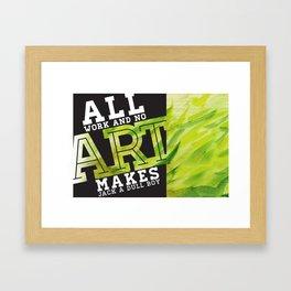 Art Grows Framed Art Print