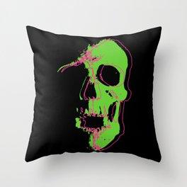 Skull - Neon Throw Pillow