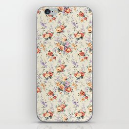 Classic Vintage Tradicional Western Victorian Floral Textile iPhone Skin