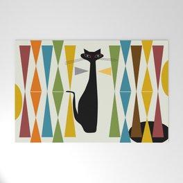 Mid-Century Modern Art Cat 2 Welcome Mat