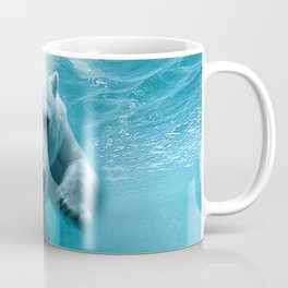 Polar Bear Swimming Coffee Mug