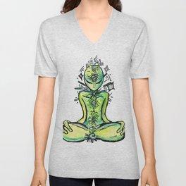 Zero, the Alien Yogi Unisex V-Neck