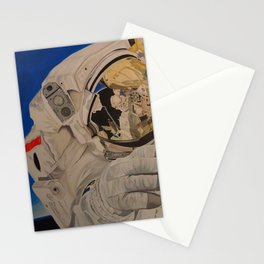 Astronaut in space, man. Stationery Cards