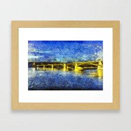 Margaret Bridge Budapest Van Goth Framed Art Print