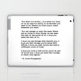 F Scott Fitzgerald quote Laptop & iPad Skin