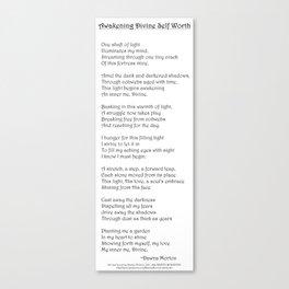 Awakening Divine Self Worth poem Canvas Print