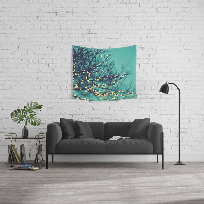twinkle lights Wall Tapestry