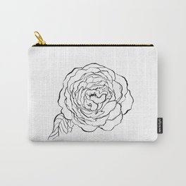 Rose Ink Drawing Carry-All Pouch