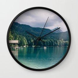 Alpsee Summer Mountain Lake Wall Clock