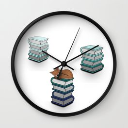 Library fox - LBC Wall Clock