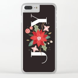 Joy Flourish - Slate Clear iPhone Case