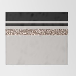 Taupe rose gold glam Throw Blanket