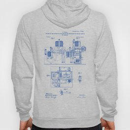 Mechanism of Moving Vessels or Vehicles Vintage Patent Hand Drawing Hoody