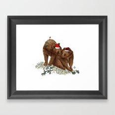 christmas bears Framed Art Print