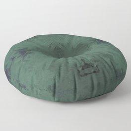Spongey Existence in Teal Floor Pillow