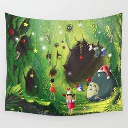 Totoro Christmas Wall Tapestry