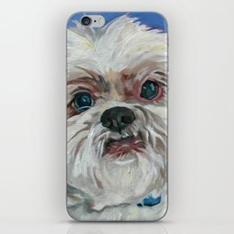 Ruby the Shih Tzu Dog Portrait iPhone Skin