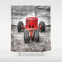 farm Shower Curtains featuring Farm All by Kent Moody