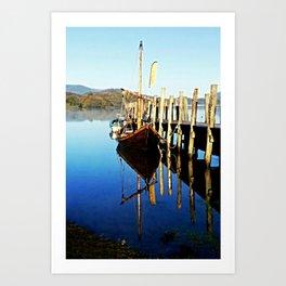 Derwent Water Boat Art Print