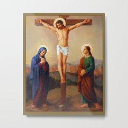 The Way of the Cross - 12 Metal Print
