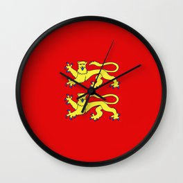 flag of normandie Wall Clock