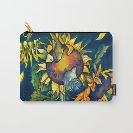 Sunflowers and birds Carry-All Pouch