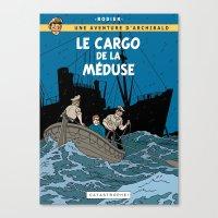 tintin Canvas Prints featuring Le Cargo de la Méduse by Yves Rodier