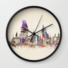 hogwarts school of magic Wall Clock