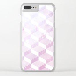 Geometric 1 Love Clear iPhone Case