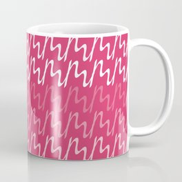 Red & Pink Ripple Pattern Coffee Mug