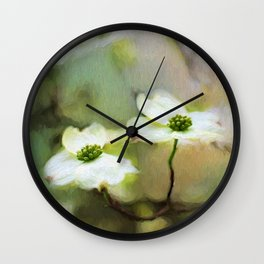 Dogwood Blooms Wall Clock