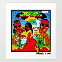 Sax In Jamaica Art Print