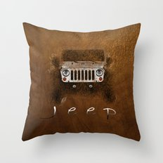 Jeep Abstract Throw Pillow