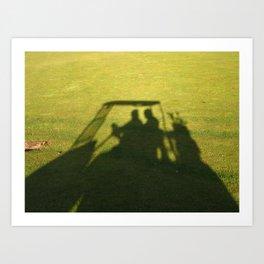Golf Cart Shadows Art Print