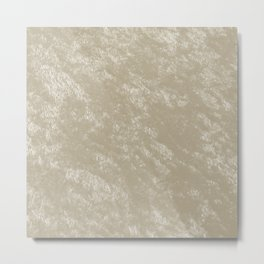 White gold velvet Metal Print