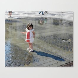 What a Long Shadow I Have Canvas Print