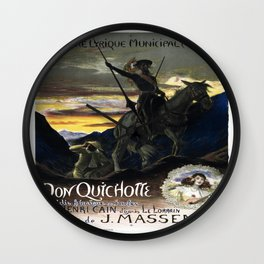 Vintage poster - Don Quichotte Wall Clock