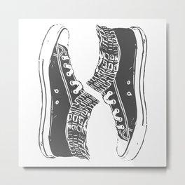 "Fashion Modern Design Print ""Sneakers""! Hip hop gangster style Metal Print"