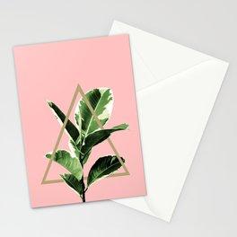 Ficus Elastica Geo Finesse #1 #tropical #foliage #decor #art #society6 Stationery Cards