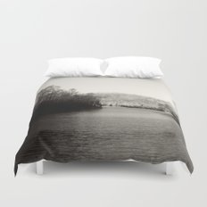 Black & White Lake Duvet Cover